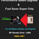 EF Civic / CRX 88-91 Performance IAT Sensor Resistor Chip Mod Kit Increase MPG HP Power Gas Saver
