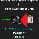 Peugeot Performance IAT Sensor Resistor Chip Mod Kit Increase MPG HP Power Super Fuel Gas Saver