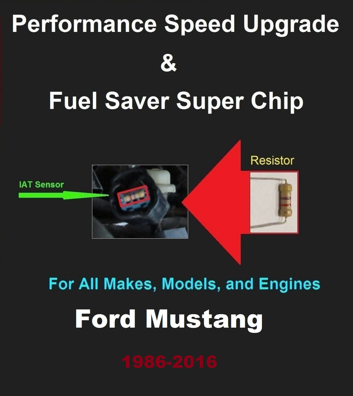 Ford Mustang Performance IAT Sensor Resistor Chip Mod Kit Increase MPG HP Speed Power Fuel