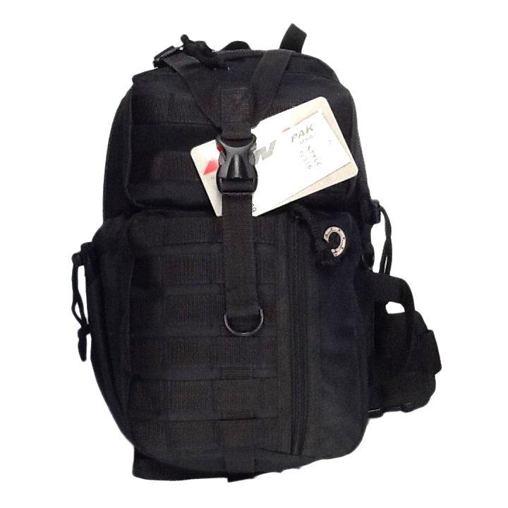 """18"""" 1200 cu. in. Tactical Sling Single Shoulder Backpack TL318 BLACK"""