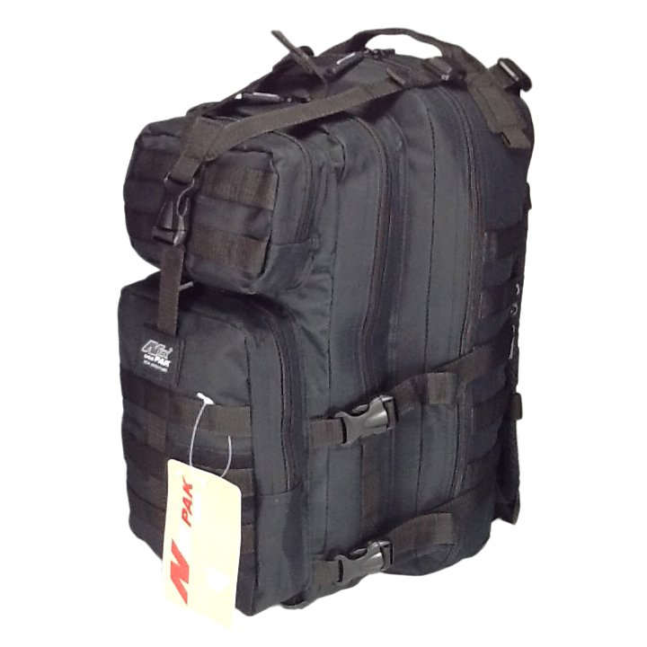 "19"" 2400 cu. in. Tactical Hunting Camping Hiking Backpack ML118 BLACK"