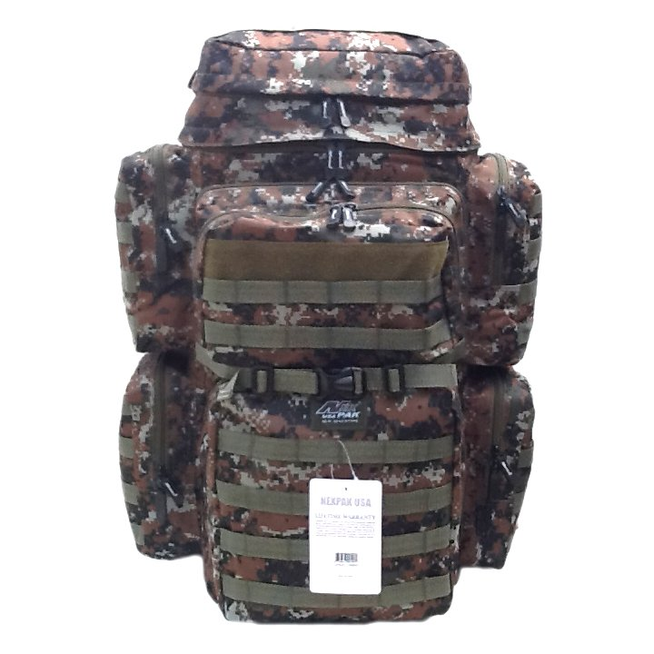 "30"" 4500cu. in. Tactical Hunting Camping Hiking Backpack OP830 DIGI CAMO Brown"
