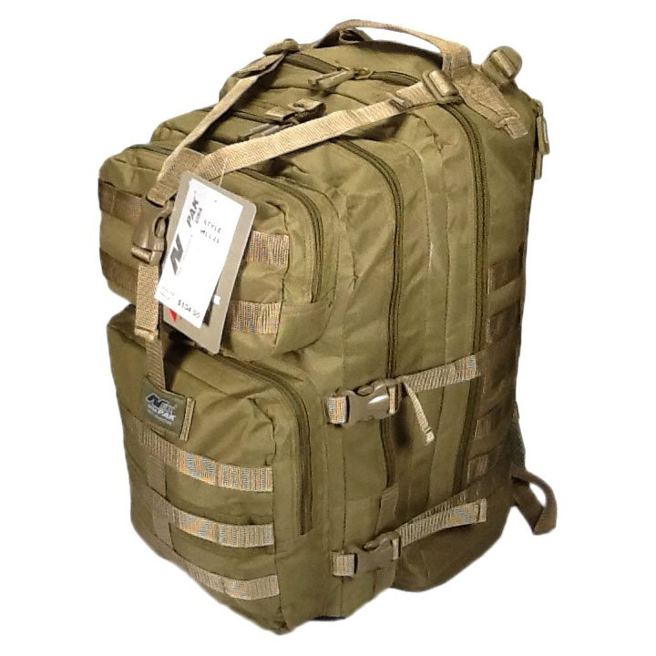 "21"" 3400cu.in. NexPak Tactical Hunting Camping Hiking Backpack ML121 TAN"