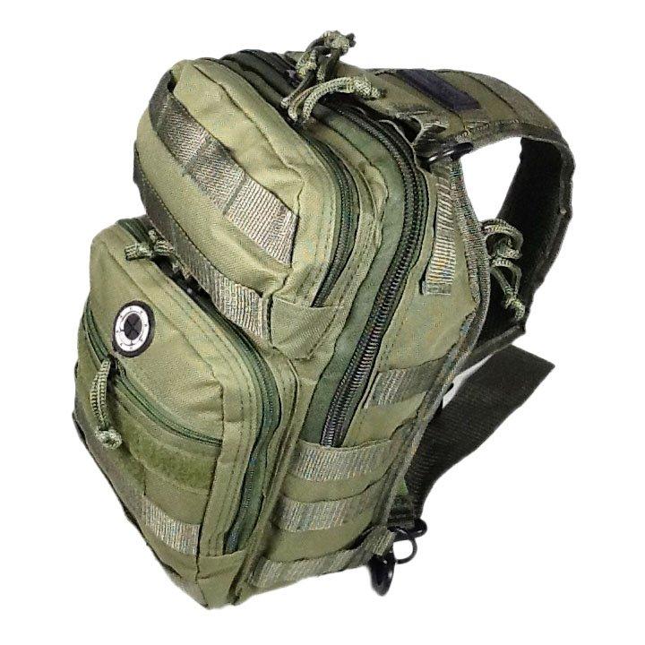 """12"""" 800cu.in. NexPak Tactical Sling Shoulder Hiking Backpack TL312 ODGN GREEN"""
