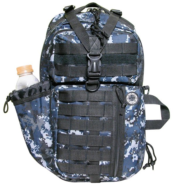 "18"" 1200cu.in. NexPak Tactical Sling Hiking Backpack TL318 DMBK CAMO (Navy blue)"
