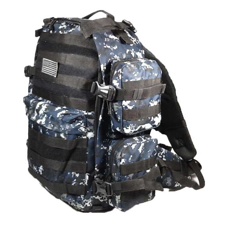 "19"" 2400 cu.in. NexPak Hunting Camping Backpack ML007 DMBK DIGI CAMO (Navy Blue)"