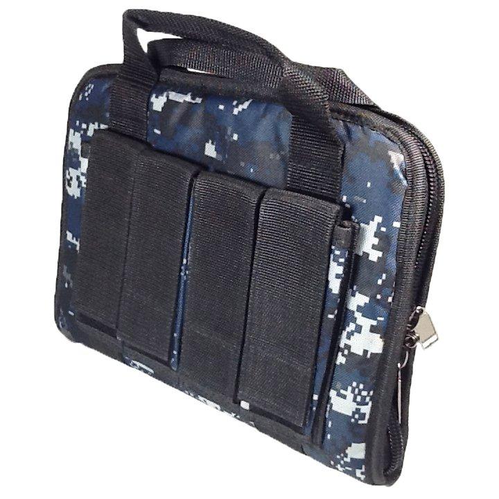 12 inch NexPak Soft Pistol Case SRB201DMBK Digital Camouflage (Navy blue)