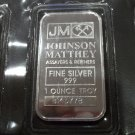 Johnson Matthey .999 silver Ten 1 Troy Ounce Bars Sheet