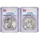 2013 West Point 2 Coin PCGS PR70 EU70 First Strike Flag Set