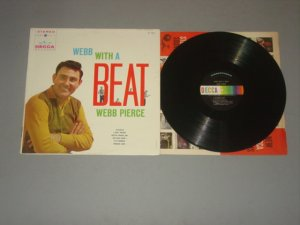 webb pierce webb with a beat decca lp 1960