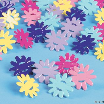Bright Spring Colored Daisy Ribbon Brads