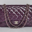 Chanel Women's Designer Handbags Purple Purses Hobo 28601