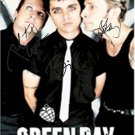Green Day Autographed Signed Black Suit Poster