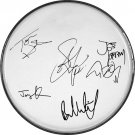 Aerosmith Steven Tyler Joe Perry Autographed Signed Clear Drumhead