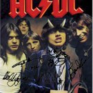 AC/DC Autographed Signed Highway To Hell Poster