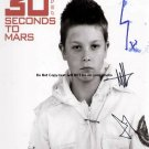 30 Seconds To Mars Autographed Preprint Special Signed Photo