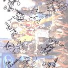 AMERICAN IDOL cast Autographed Preprint Signed Photo