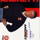 Mario Andretti Autographed Preprint Signed Photo