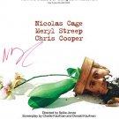 Nicholas CAGE adaptation poster Autographed Preprint Signed Photo