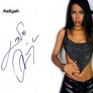 aaliyahPayinWithHair Autographed Preprint Signed Photo