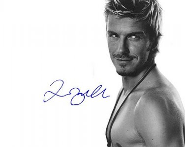 beckhamdavid_beckham Autographed Preprint Signed Photo