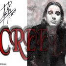creed_x Autographed Preprint Signed Photo