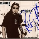 metallicaTrujilloST Autographed Preprint Signed Photo