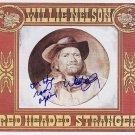 nelsonwillieRedHead Autographed Preprint Signed Photo