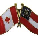 Canada Georgia Friendship Pin