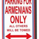 Armenia Metal Parking Sign