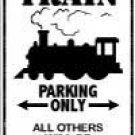 Train Parking Sign