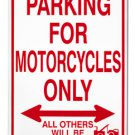 Motorcycles Parking Sign