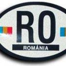 Romania Oval decal