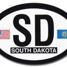 South Dakota Oval decal