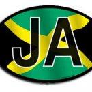 Jamaica Wavy oval decal
