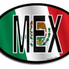 Mexico Wavy oval decal
