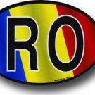 Romania Wavy oval decal