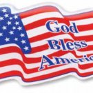 USA Wavy Domed Sticker (God Bless America)