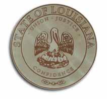 "Louisiana - 3.5"""" State Seal"