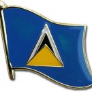 St. Lucia Flag Lapel Pin