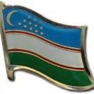 Uzbekistan Flag Lapel Pin