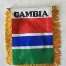 Gambia Window Hanging Flag