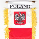 Poland Window Hanging Flag (Eagle)