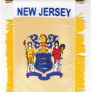 New Jersey Window Hanging Flag