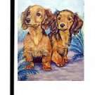 "Dachshund (Two Peas in a Pod) - 11""""x15"""" 2-Sided Garden Banner"