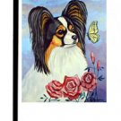 """Papillon (Curious Visitor) - 11""""""""x15"""""""" 2-Sided Garden Banner"""