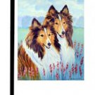 "Sheltie (In the Flowers) - 11""""x15"""" 2-Sided Garden Banner"