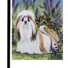 "Shih Tzu (In the Flowers) - 11""""x15"""" 2-Sided Garden Banner"