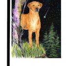 "Rhodesian Ridgeback (Night Watch) - 11""""x15"""" 2-Sided Garden Banner"
