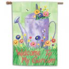 Watering Can with Bees Toland Art Banner